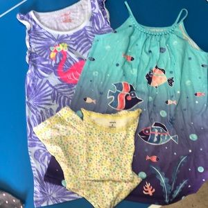 Carter's and Cat and Jack pajamas lot of 3